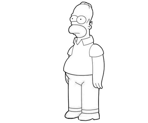 Homer Simpson Look Avondale Style Homer Coloring Pages