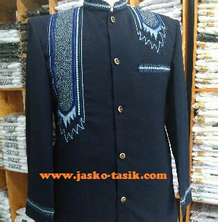 jasko biru bordir no 215 jasko motif sorban warna biru dongker jasko tasikmalaya