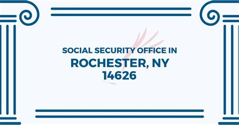 social security office in rochester new york 14626 get