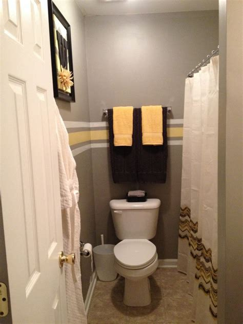 grey and yellow bathroom makeover homey ideas