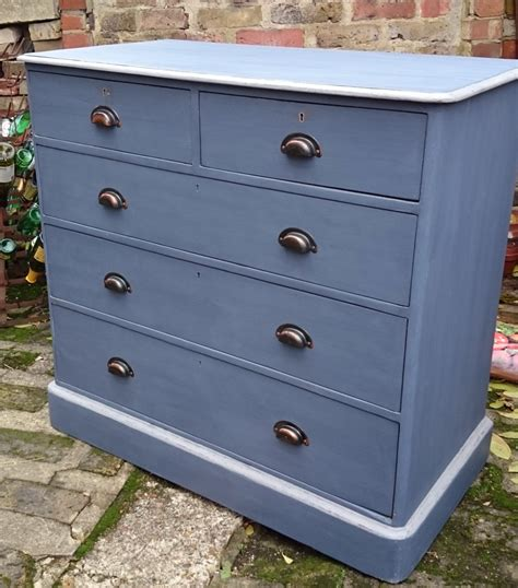 navy chest of drawers victorian pine navy blue painted chest of drawers