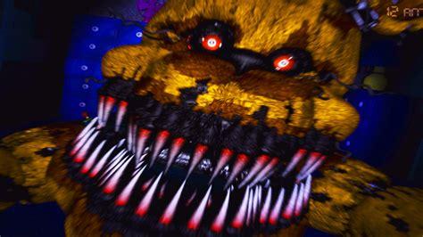 Five nights at freddy s 4 nightmare fredbear jumpscare night 4