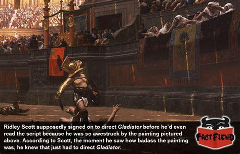 gladiator film and history ridley scott directed gladiator because of a painting