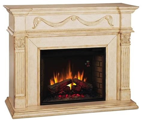 gossamer electric fireplace in antique ivory traditional