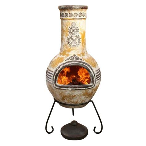 Clay Chiminea Home Depot Azteca Clay Mexican Chiminea Yellow