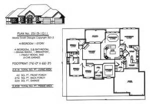 One Story 4 Bedroom House Plans by 4 Bedroom 1 Story House Plans Joy Studio Design Gallery