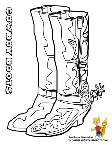 Free Coloring Pages Of Cowboy Boot And Hat 6726 Cowboy Boots And Hat Coloring Page Free