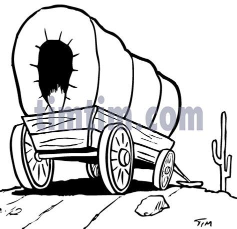 free drawing of covered wagon 2bw from the category