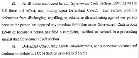 government code section 12940 dca csac face retaliation age discrimination lawsuit