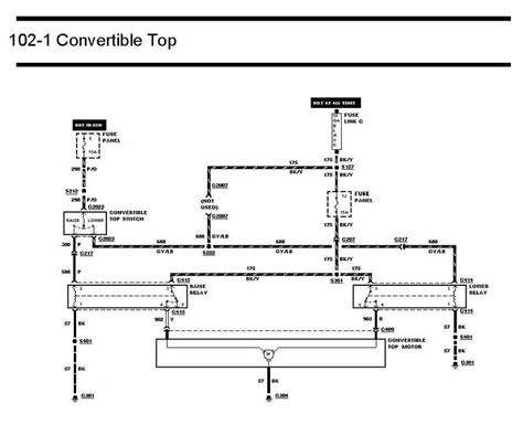wiring diagram 2005 mustang conv top wiring diagram schemes