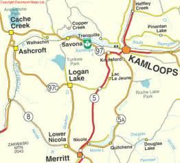 maps kamloops bc canada kamloops bc map