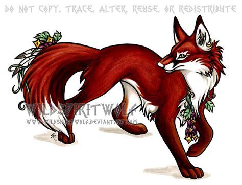 Anime Fox by Flower Fox Copic By Wildspiritwolf On Deviantart
