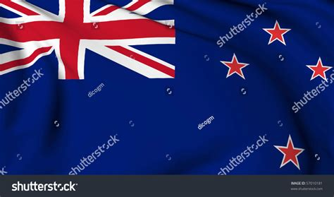 flags of the world new zealand new zealand flag world flags collection stock illustration