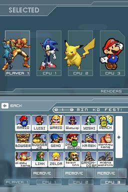 super smash bros rumble v0.6 (nds game) › nintendo ds
