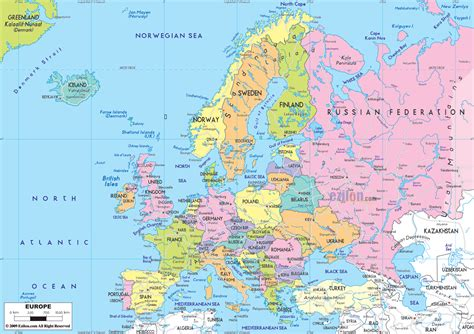 map or europe europe map hd with countries