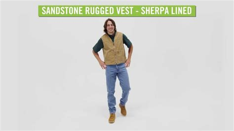 carhartt rugged work vest carhartt s sandstone rugged vest sherpa lined