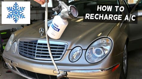 automobile air conditioning repair 2008 mercedes benz r class navigation system mercedes w211 how to rechage the air conditioner ac e320 youtube