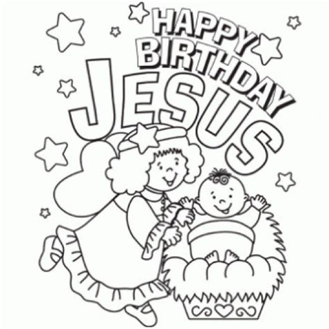 colouring pages christmas jesus happy birthday jesus clip art
