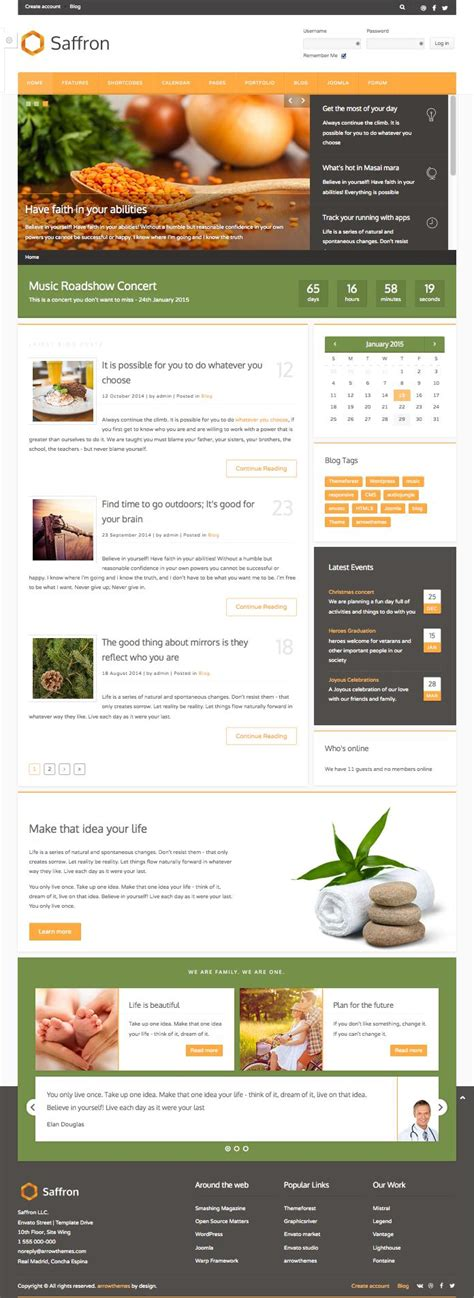 create blog layout joomla saffron joomla multi concept design template live customizer