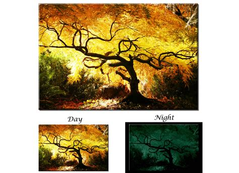 glow in the painting tree glow in the canvas wall japanese maple tree