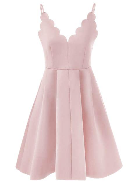 Dress Pink spaghetti rippled edge dress in pink s