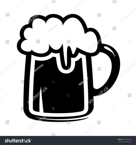 beer vector beer mug icon stock vector 127965650 shutterstock