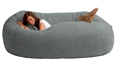 how to make a bean bag couch giant bean bag sofa dudeiwantthat com