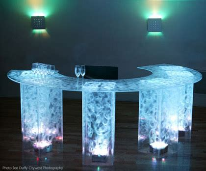 rent lighted acrylic cocktail tables, bars, lounge