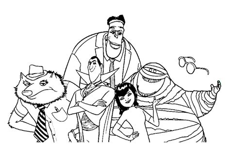 hotel transylvania coloring pages coloring home