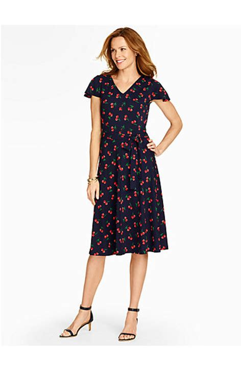 Talbots Gift Card Where To Buy - wild cherry print dress talbots