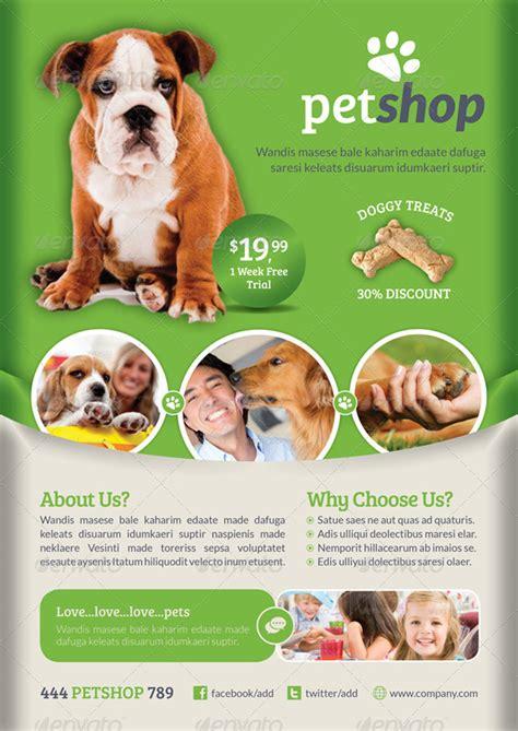 pet flyer templates free 20 trending premium print shop templates