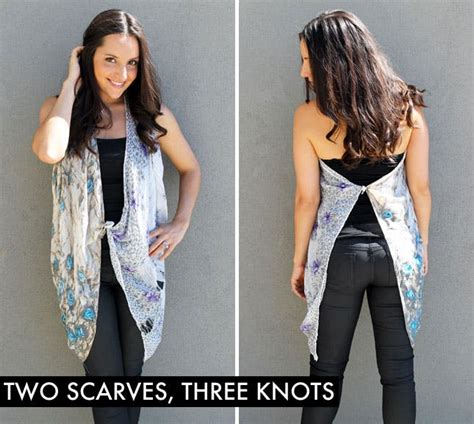 10 ways to turn a scarf into a vest brit co