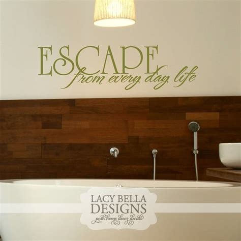 mirror decals for bathrooms quot escape from every day life quot www lacybella com lacy