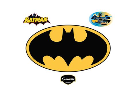 Batman Logo 1 batman logo wall decal shop fathead 174 for batman decor