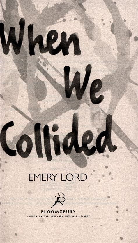when we collided 1408870088 when we collided by lord emery 9781408870082 brownsbfs