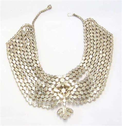 Rhinestone Necklace vintage 50s rhinestone bib necklace at 1stdibs