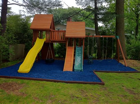black rubber mulch  playgrounds