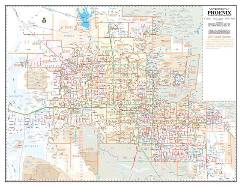 zip code map of phoenix phoenix metro zip code map my blog