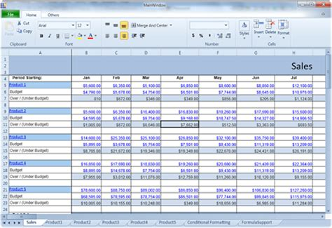 Images Of Spreadsheets by Essential Spreadsheet For Silverlight