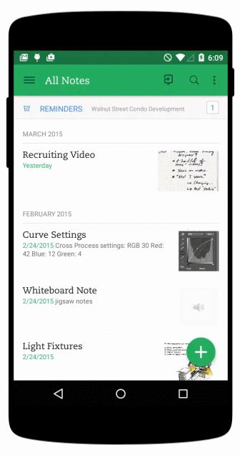 evernote for android the golden of bottom navigation design smashing magazine