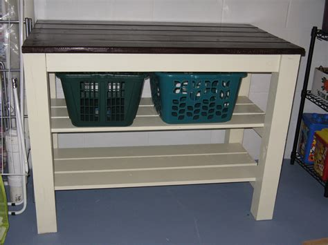 Ana White   Laundry area table   DIY Projects