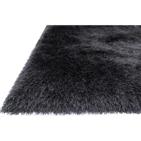 sona rug sona modern sleek charcoal grey shag rug 3 6x5 6 kathy kuo home