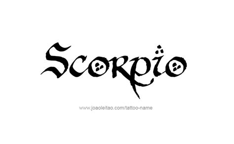 scorpio horoscope name tattoo designs page 5 of 5