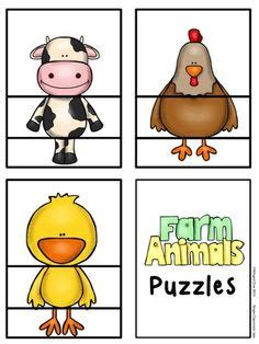 printable animal puzzle farm animals puzzles with creativity from wingedone on