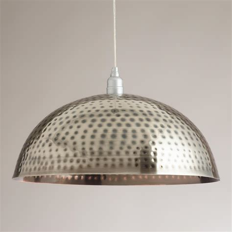 World Market Pendant Light Hammered Metal Pendant L World Market