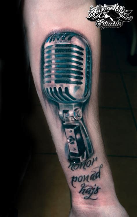 microphone tattoo pics realistic microphone tattoo by newagetattoo on deviantart