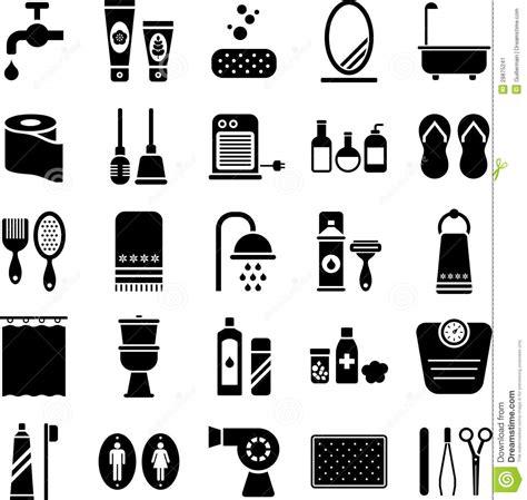 Home Spa Bathroom - bathroom icons stock image image 28875241
