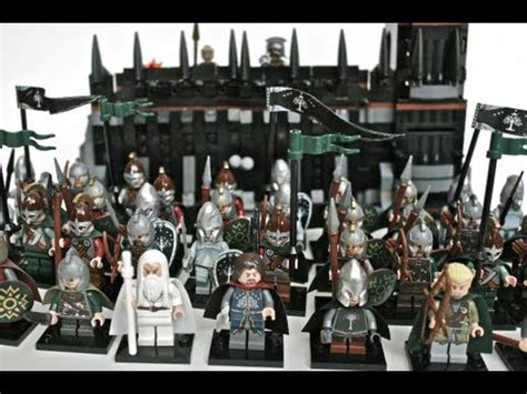 lego lotr army at the black gate moc youtube