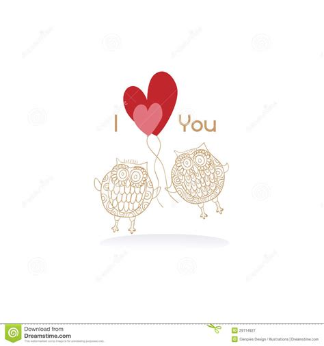 images of love engagement owls couple in love wedding card stock vector image
