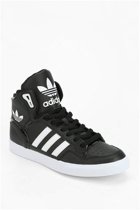 high top adidas sneakers adidas originals extaball leather high top sneaker